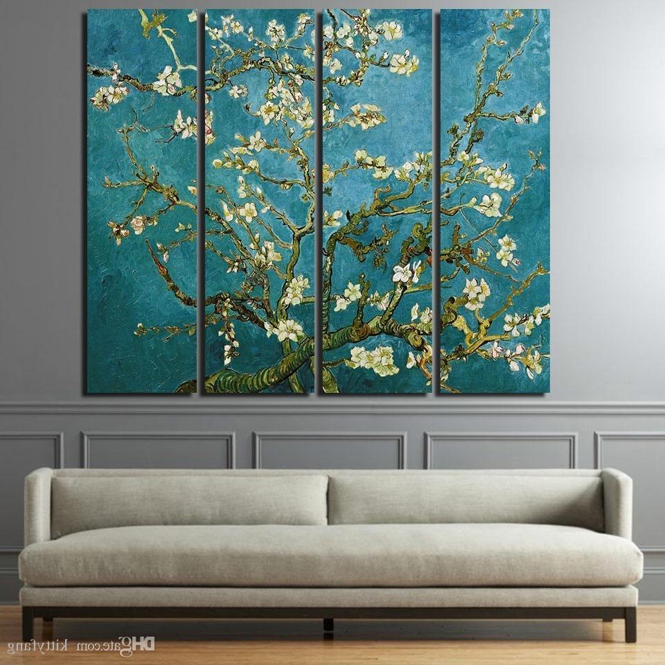 2018 2018 Canvas Paintings Printed Flowering Cherry Trees Wall Art Canvas With Regard To Wall Art Canvas (View 14 of 15)