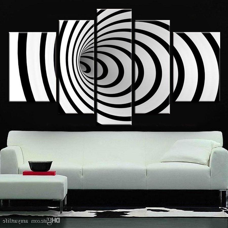 2018 2018 Hand Painted Ideas Modern Canvas Art Picture Future Wall Art 3D Inside Modern Wall Art (View 1 of 15)