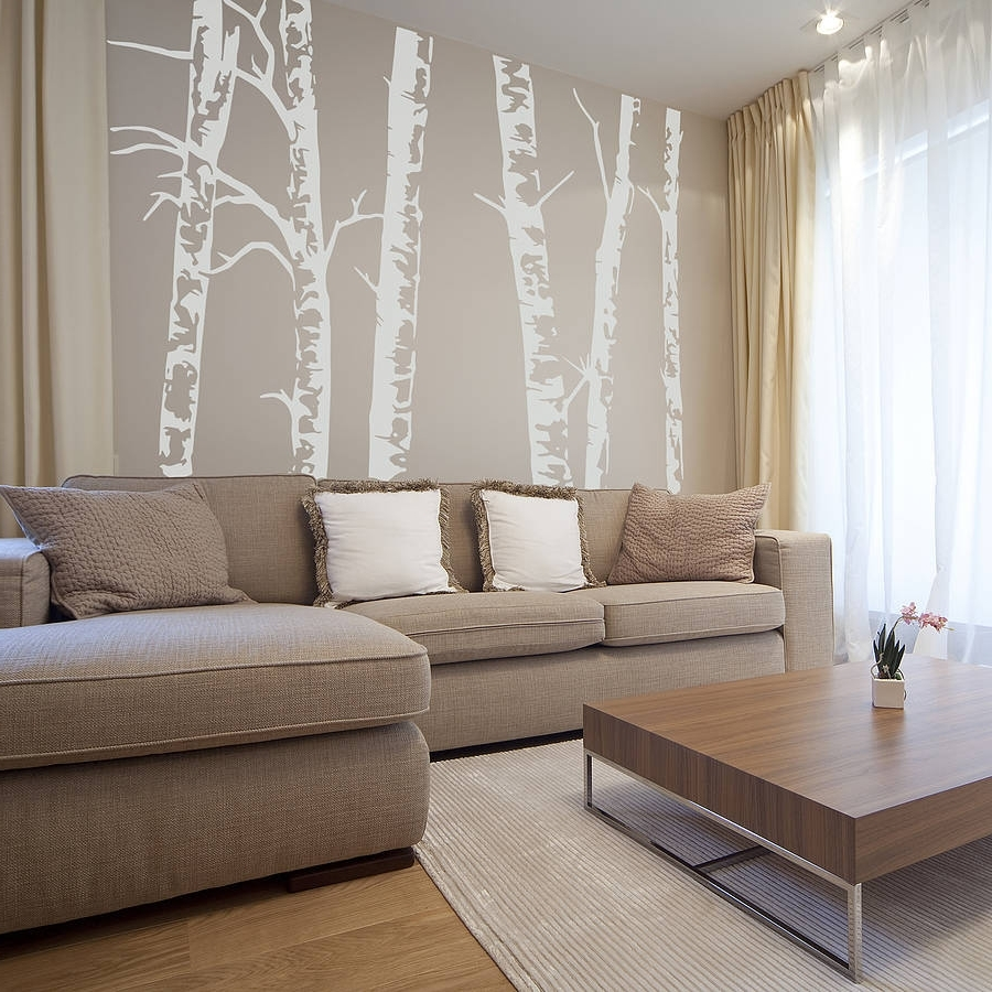 2018 Birch Tree Wall Art With Regard To Silver Birch Trees Vinyl Wall Stickeroakdene Designs (View 16 of 20)