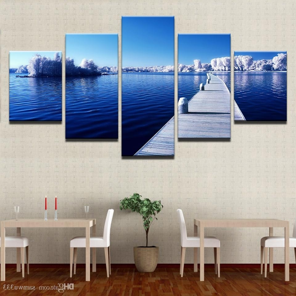 2018 Canvas Home Decor Wall Art Pictures Snow Trees Forest Long For Latest Long Canvas Wall Art (Gallery 9 of 20)