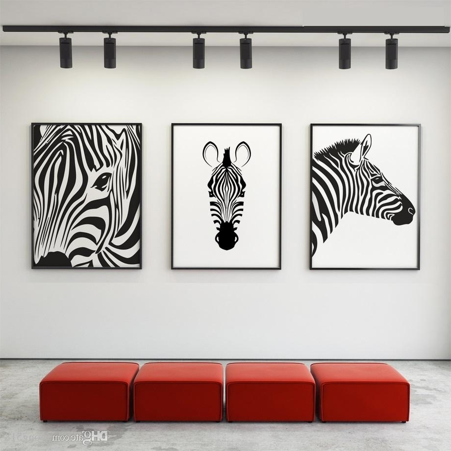 2018 Canvas Painting Nordic Black White Animal Horse Wall Art Canvas In Most Current Horse Wall Art (Gallery 12 of 15)
