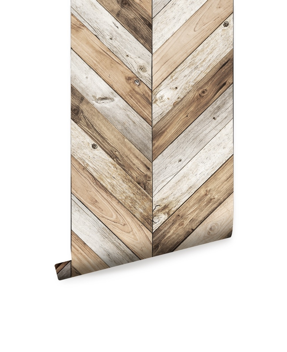2018 Chevron Wall Art With Chevron Wood Herringbone Wallpaper – Peel And Stick, Chevron Wall (View 1 of 20)