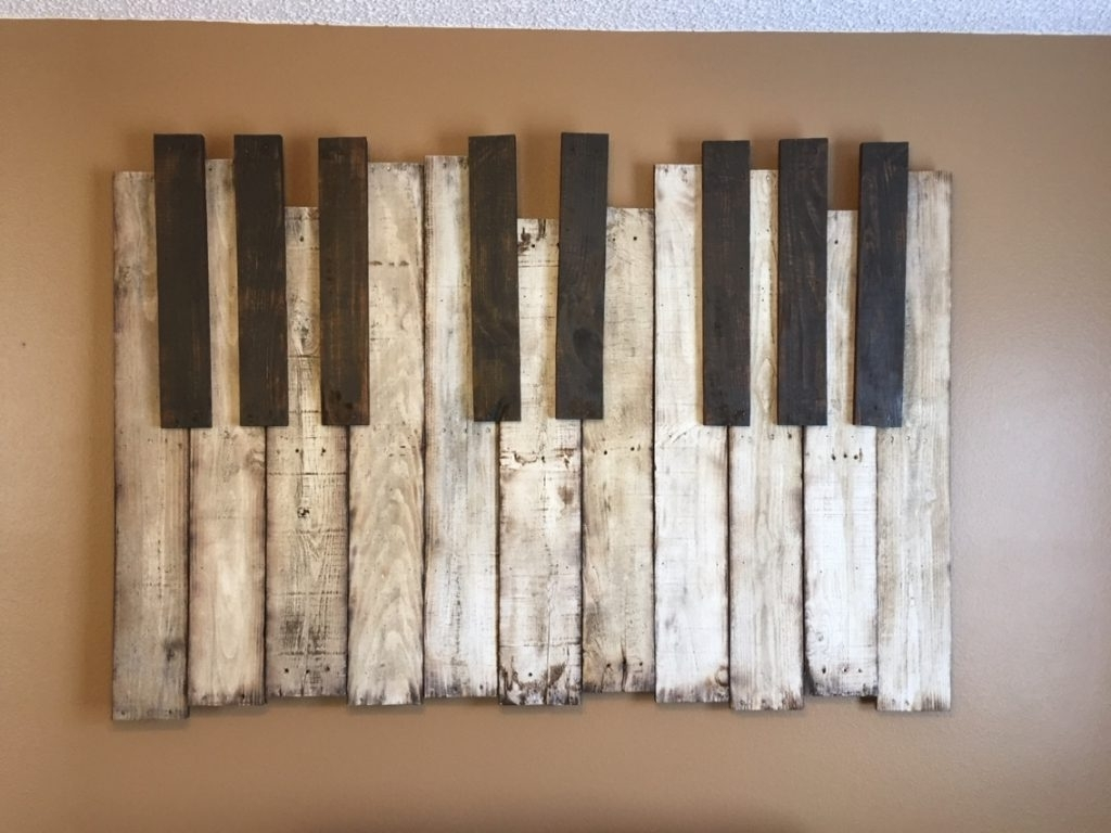 2018 Diy Wood Wall Art Throughout Diy Wooden Pallet Piano Wall Art The Handstand Pinterest Regarding (View 4 of 20)