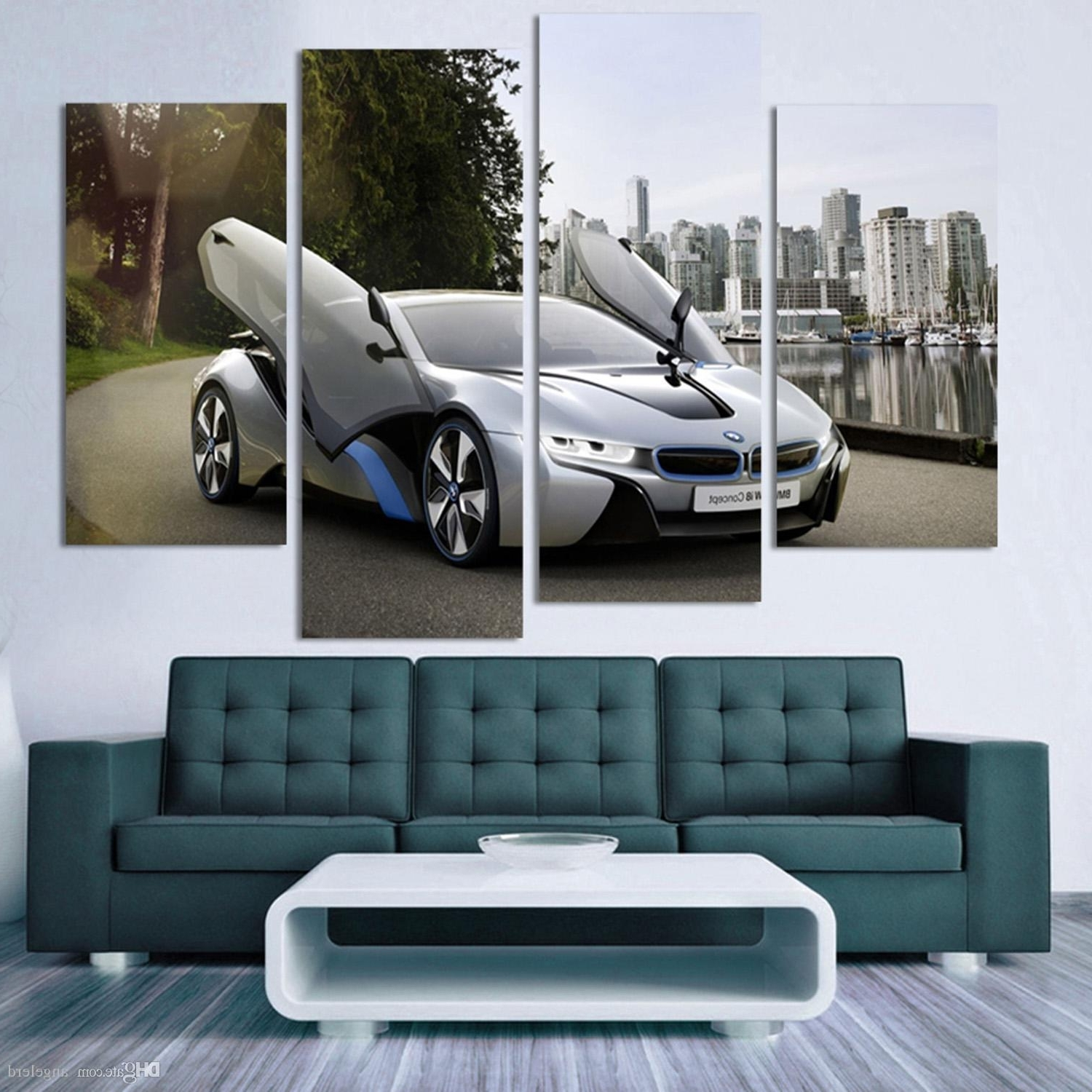2018 Fashion Sport Car Canvas Prints Painting Decoration For Bed Inside Famous Car Canvas Wall Art (View 4 of 20)