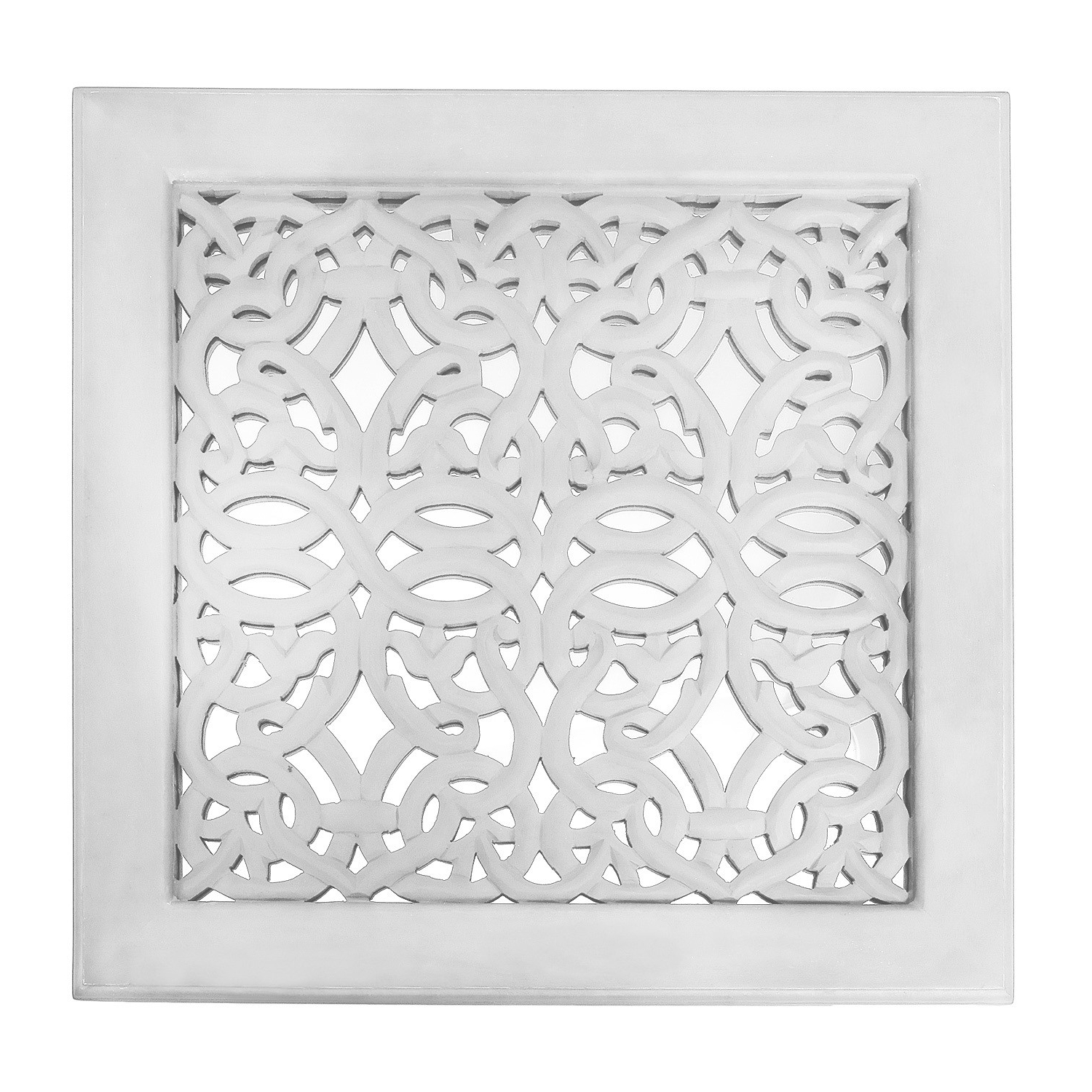 2018 Fretwork Wall Art: White (Set Of 3) (View 2 of 20)