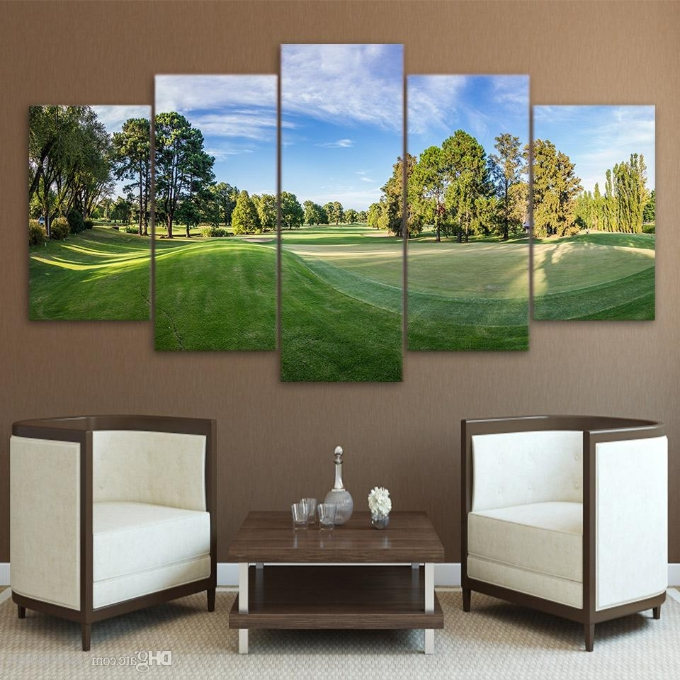 2018 Hd Printed Canvas Art Golf Course Canvas Painting Wall Pictures Within Best And Newest Golf Canvas Wall Art (View 9 of 20)