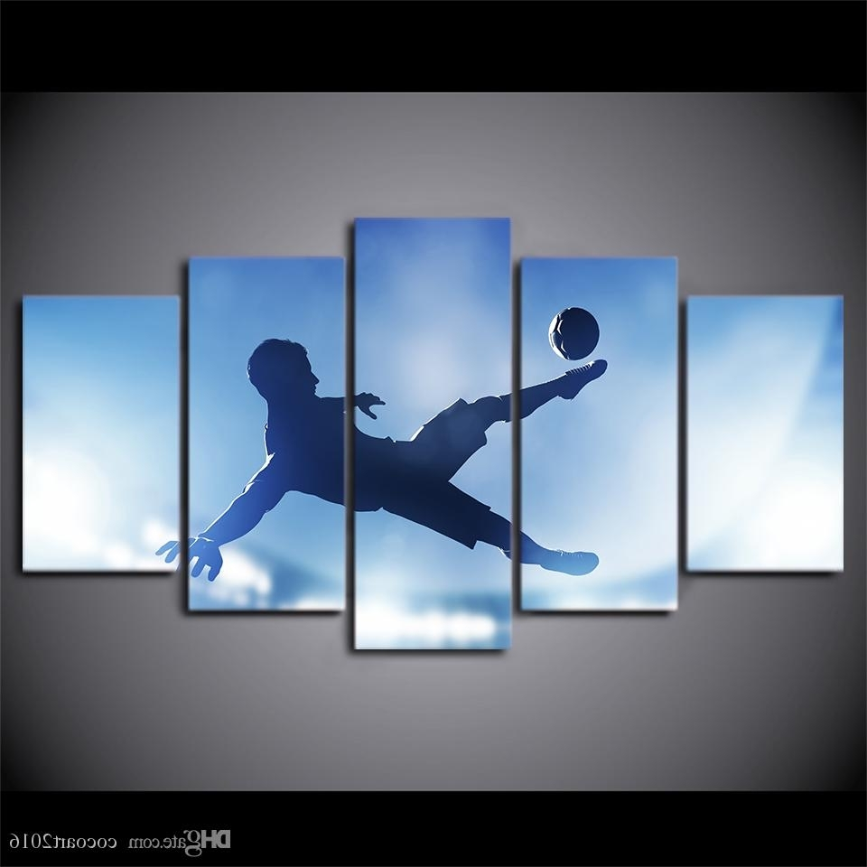 2018 Hd Printed Canvas Art Soccer Sports Large Canvas Wall Art With Regard To Popular Soccer Wall Art (View 8 of 20)