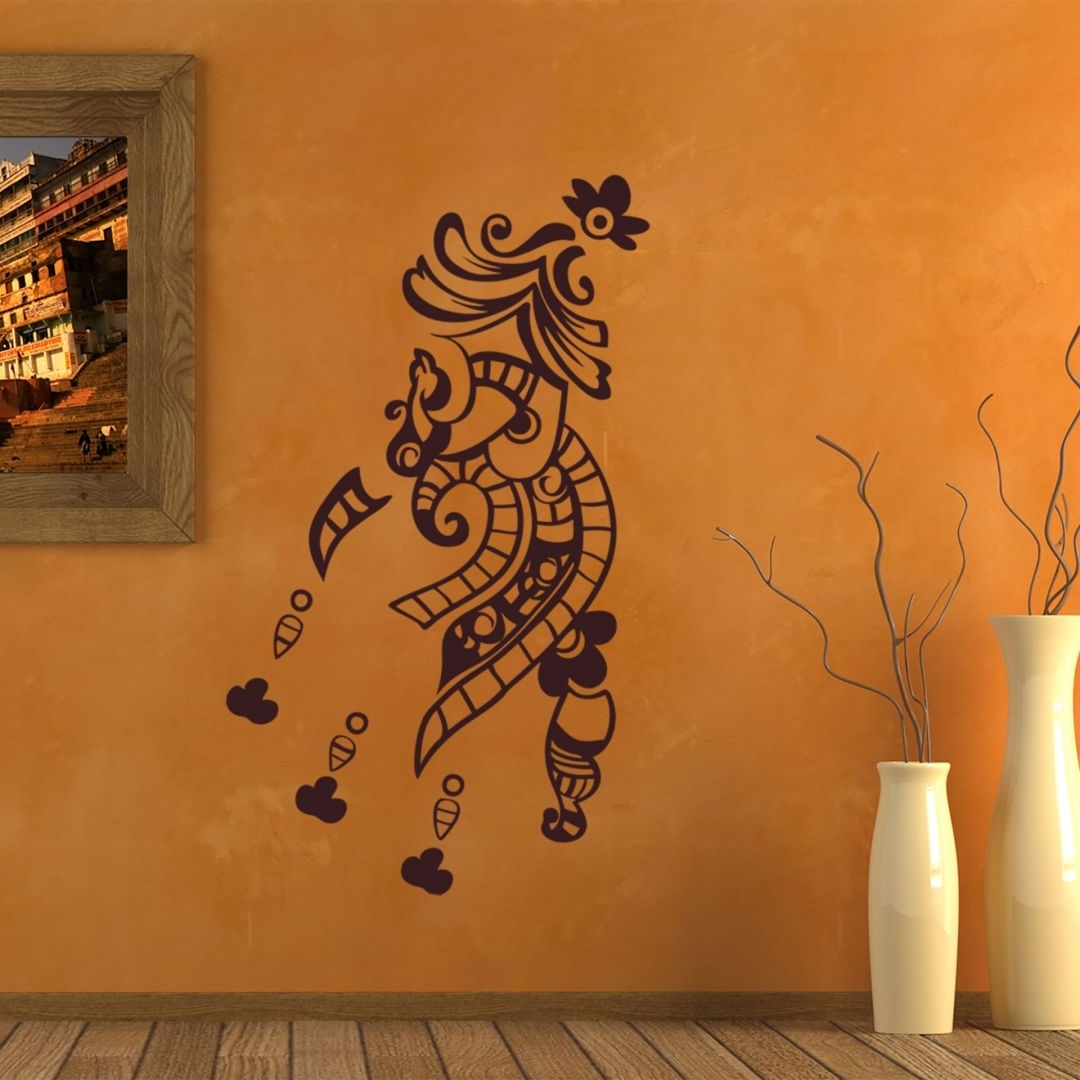 2018 Henna Wall Sticker Inside Henna Wall Art (View 2 of 20)