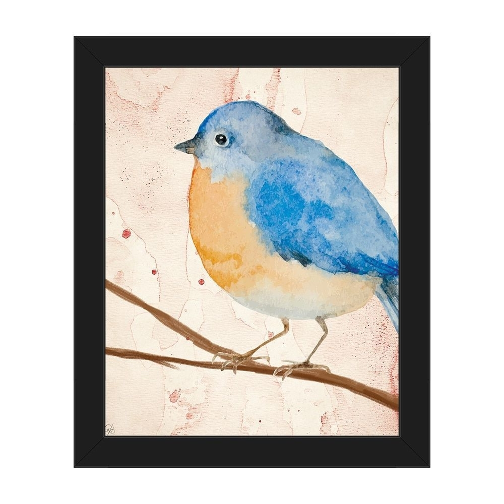 2018 Horizon 'pink Watercolor Bird' Framed Canvas Wall Art Print (View 18 of 20)