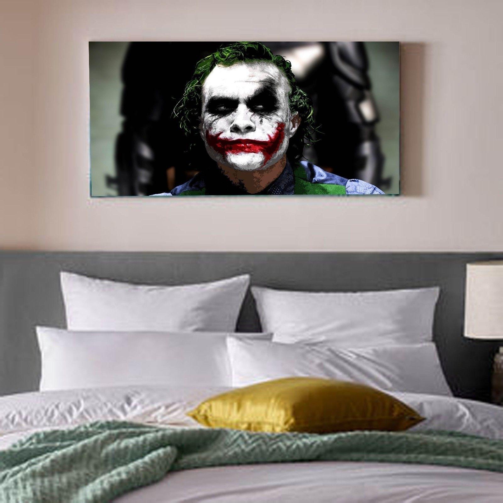 2018 Joker Wall Art Pertaining To The Joker Heath Ledger Batman Dc Comics Canvas Print Wall Art Photo (View 3 of 20)