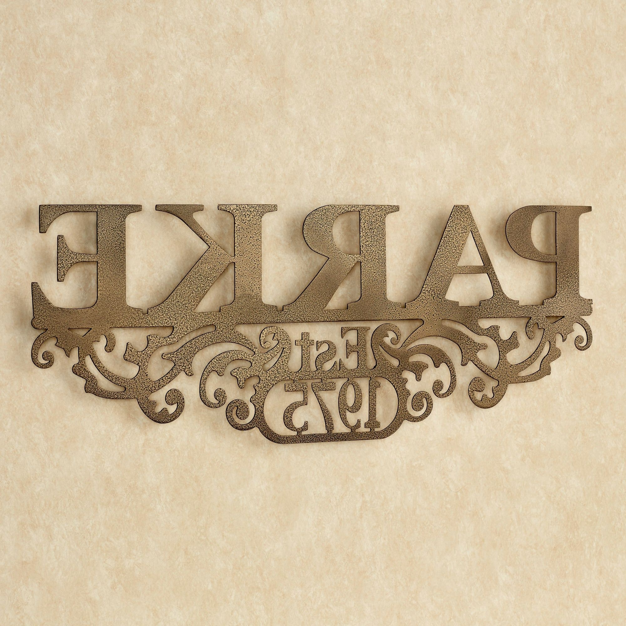 2018 Kinship Antique Gold Family Name And Year Personalized Metal Wall Pertaining To Family Name Wall Art (View 2 of 20)