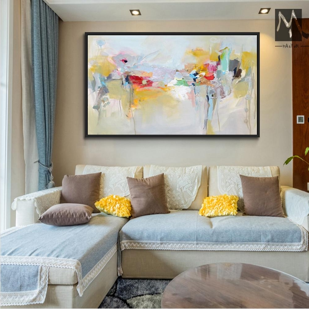 2018 Large Canvas Wall Art Acrylic Painting Modern Paintings Wall Within Well Liked Large Canvas Painting Wall Art (View 4 of 20)