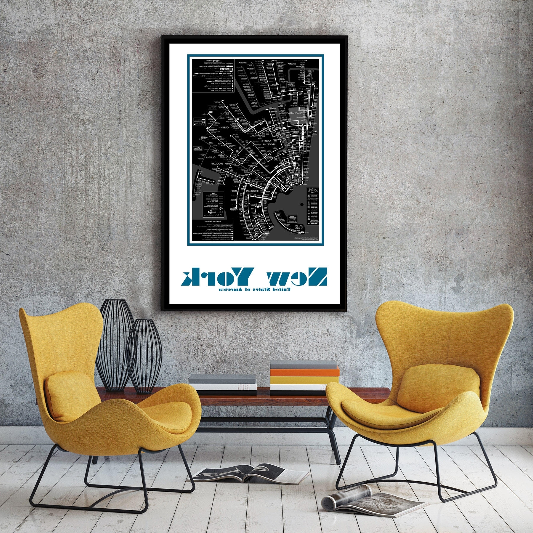 2018 New York City Subway Map Wall Art Decor Regarding Nyc Subway Map Wall Art (View 11 of 20)