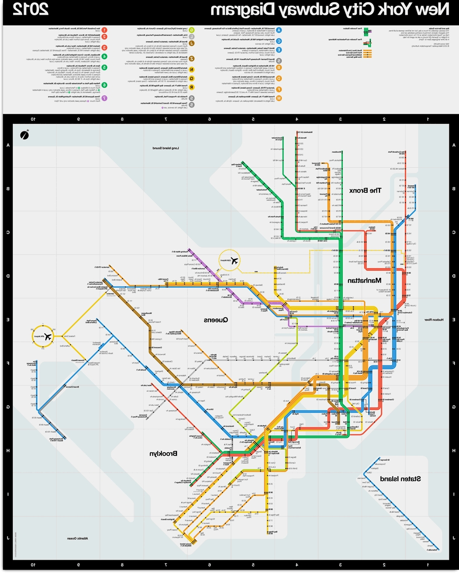 2018 New York Subway Map Wall Art Regarding News: Official 2012 Vignelli New York Subway – Transit Maps (View 3 of 20)