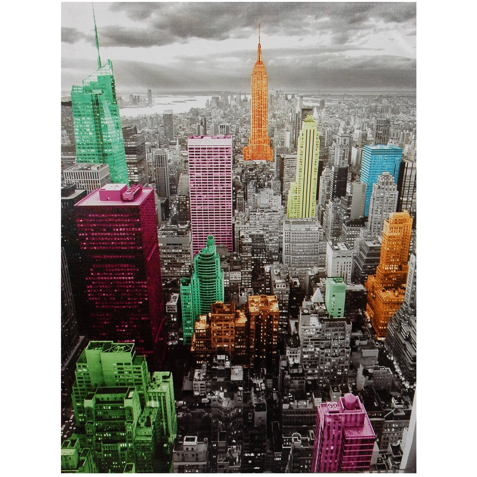 2018 Nyc Wall Art Intended For High Lights Of New York Skyline Canvas Wall Art – Walmart (View 1 of 20)
