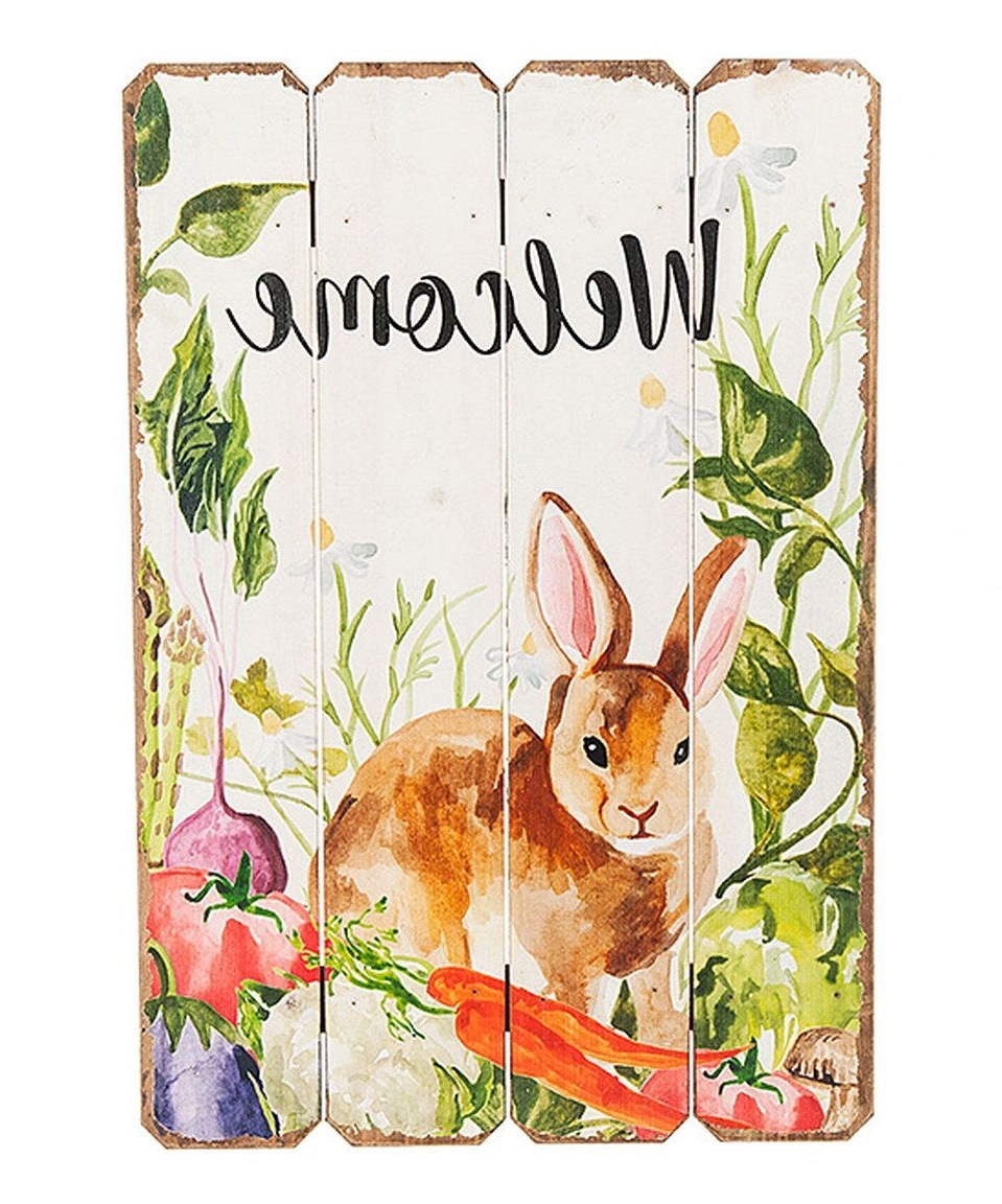 2018 Take A Look At This 'welcome' Bunny Wall Art Today! (View 20 of 20)