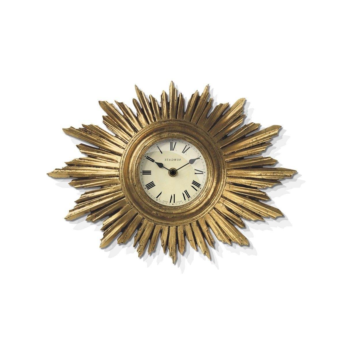 2018 The Sunburst Wall Clock In Vintage Goldnewgate Clocks An Art Throughout Art Deco Wall Clock (View 8 of 20)