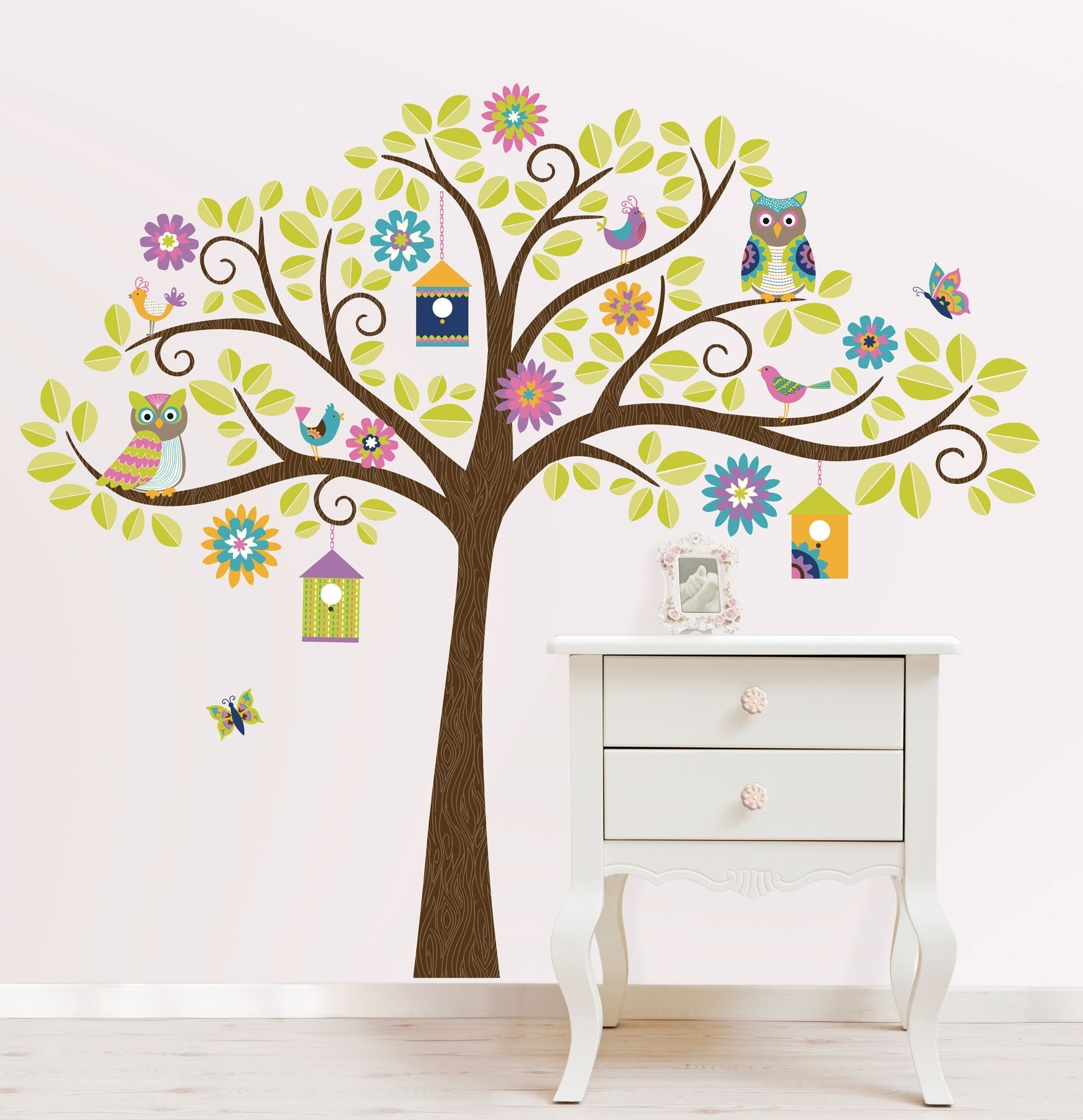 2018 Tree Wall Art Intended For Hoot And Hang Out Tree Wall Art Sticker Kit (Gallery 11 of 15)