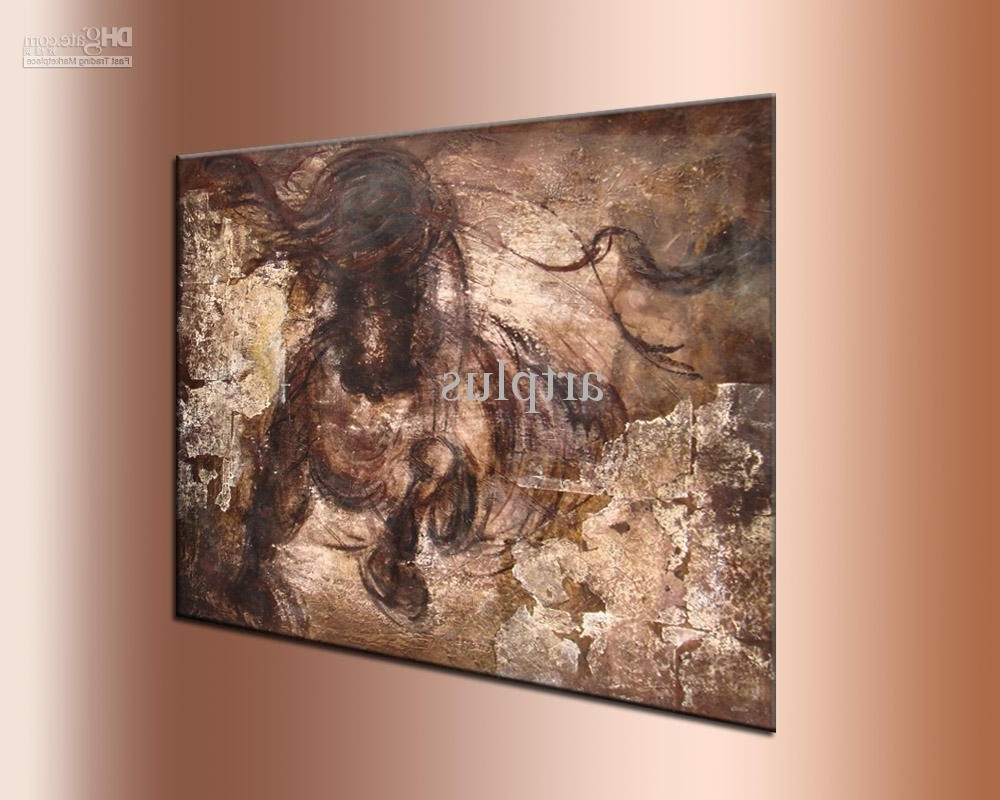 2018 Wall Art ,galloping Horse Oil Painting,handpainted ,thick Inside Most Recent Horse Wall Art (Gallery 11 of 15)