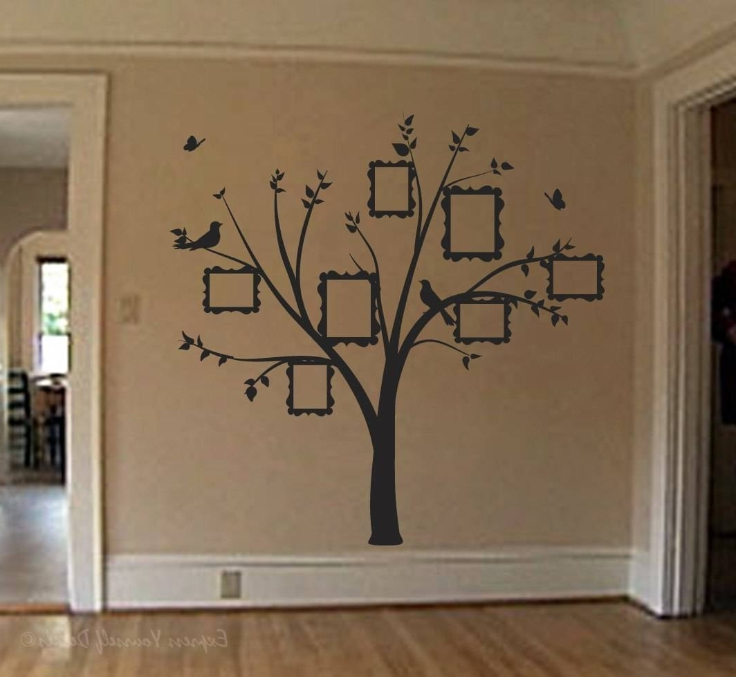 2018 Wall Tree Art For Family Photo Tree Wall Art Decal (Gallery 8 of 20)