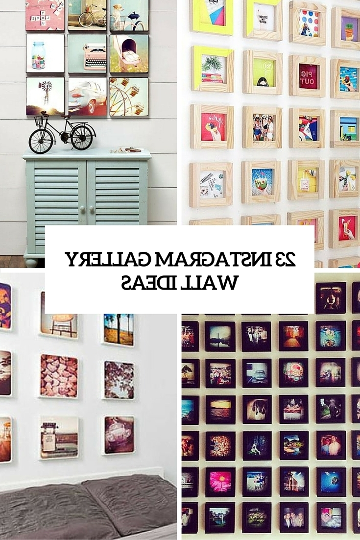 23 Instagram Gallery Wall Ideas For Trendy Décor – Shelterness Regarding Most Up To Date Instagram Wall Art (View 2 of 20)