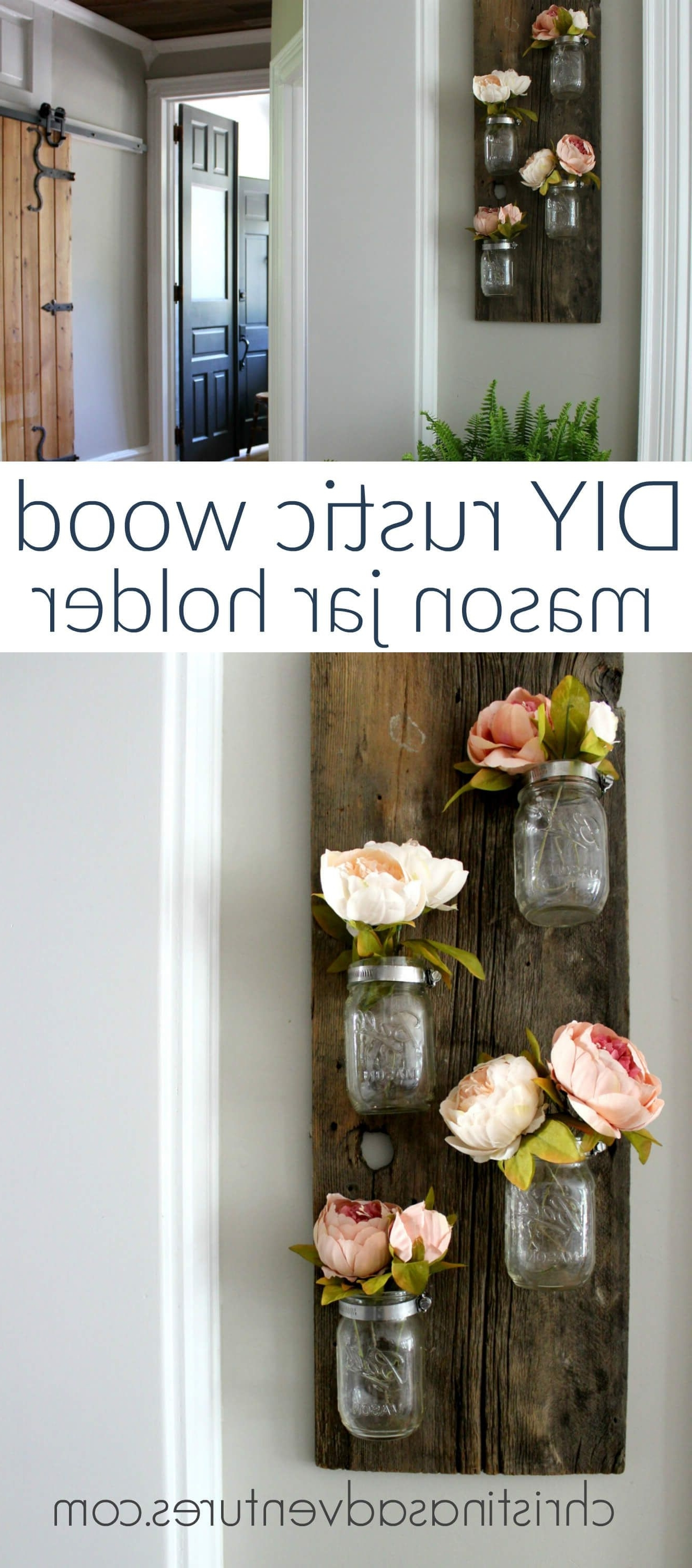 24 Enchanting Mason Jar Wall Decor Ideas To Brighten Your Walls With Regard To Trendy Mason Jar Wall Art (View 1 of 20)