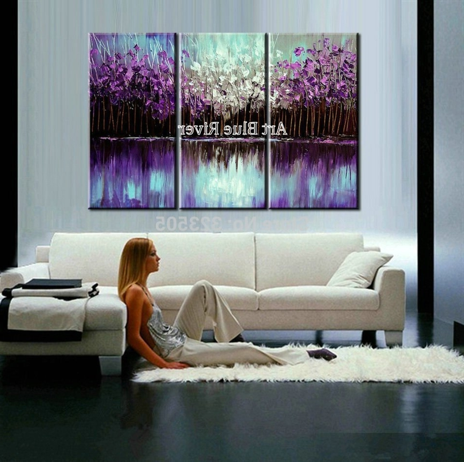3 Piece Abstract Canvas Art Painting Triptych Home Goods Wall Art Pertaining To Well Known Home Goods Wall Art (View 3 of 20)