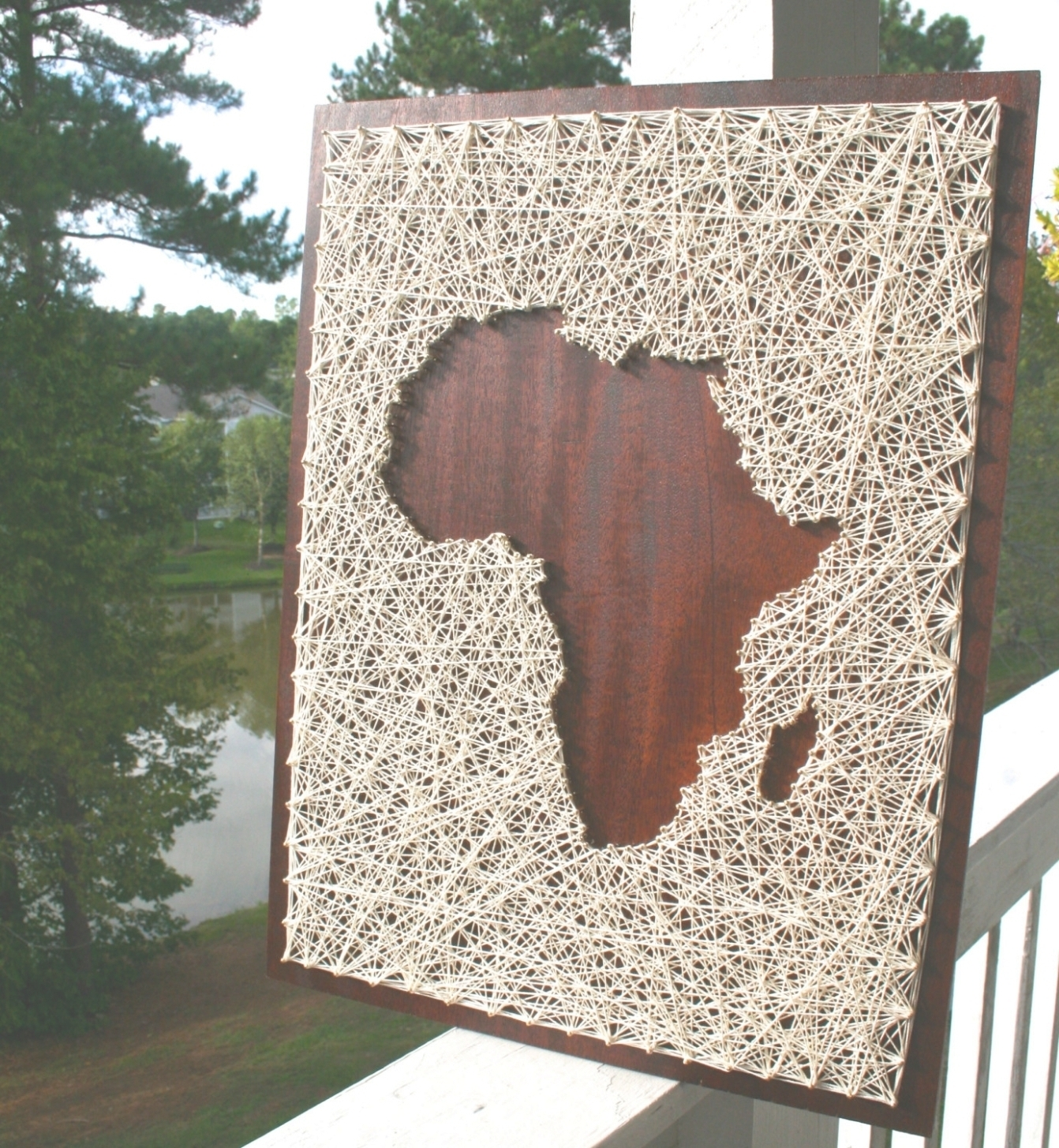 35 Inspirations Of String Map Wall Art Africa Regarding Art (View 3 of 20)