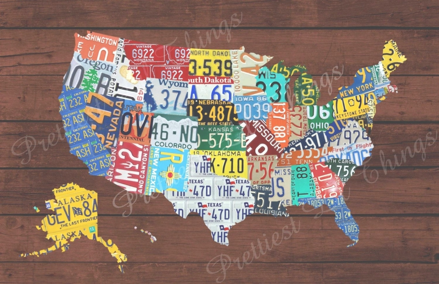 45 Ideas Of License Plate Map Wall Art Beauteous United States Within Favorite License Plate Map Wall Art (View 1 of 20)