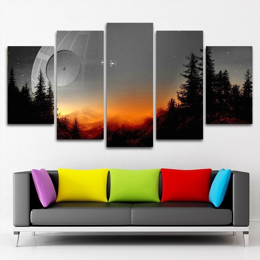 5 Panel Wall Art Canvas Prints (View 5 of 20)