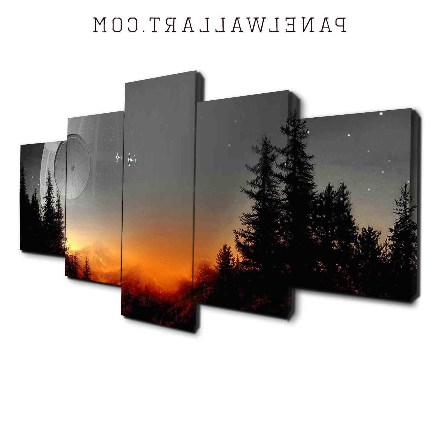 5 Panel Wall Art Canvas Prints (Gallery 10 of 15)