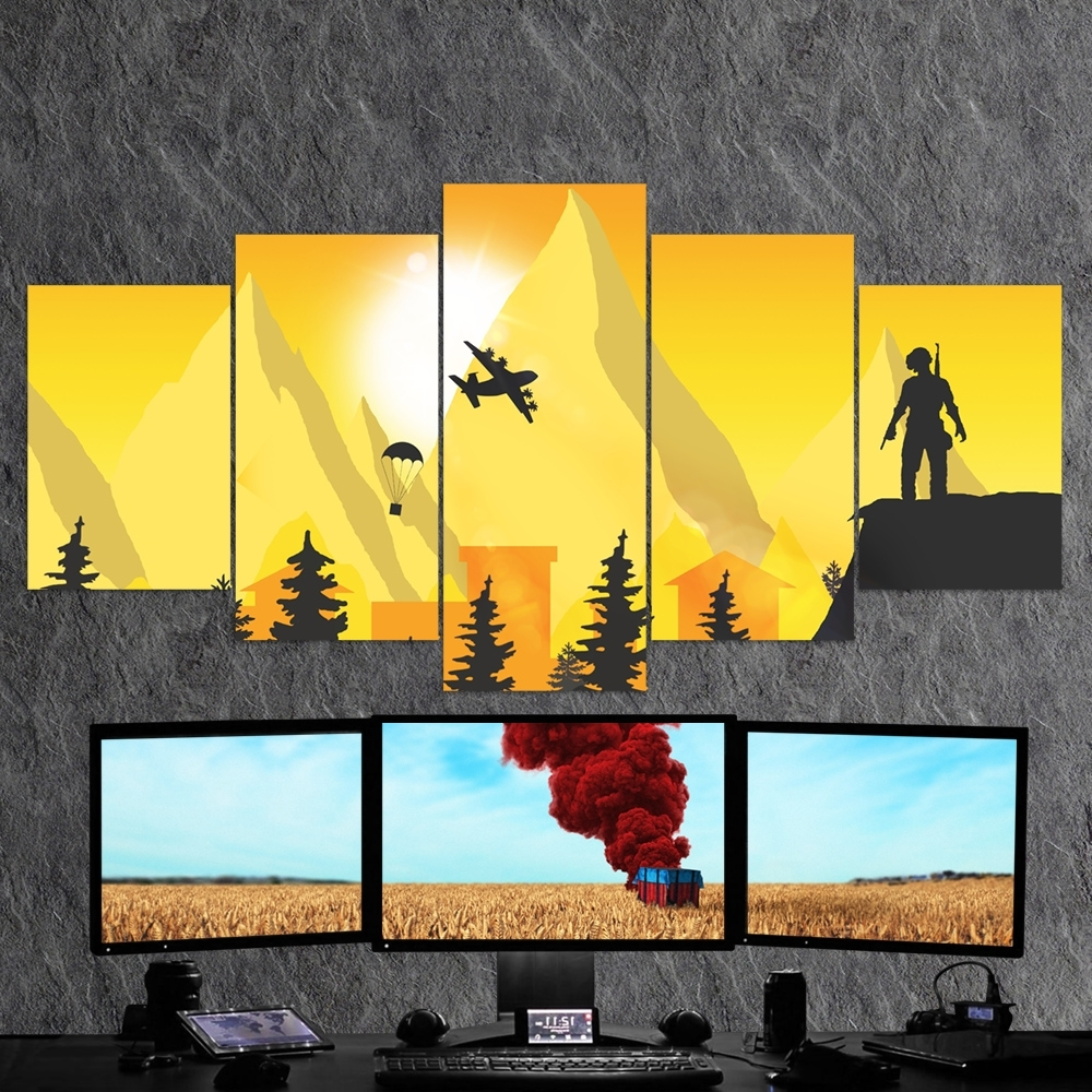 5 Piece Canvas Wall Art For Popular Pubg Playerunknown's Battlegrounds 26 – 5 Piece Canvas Wall Art (View 5 of 20)