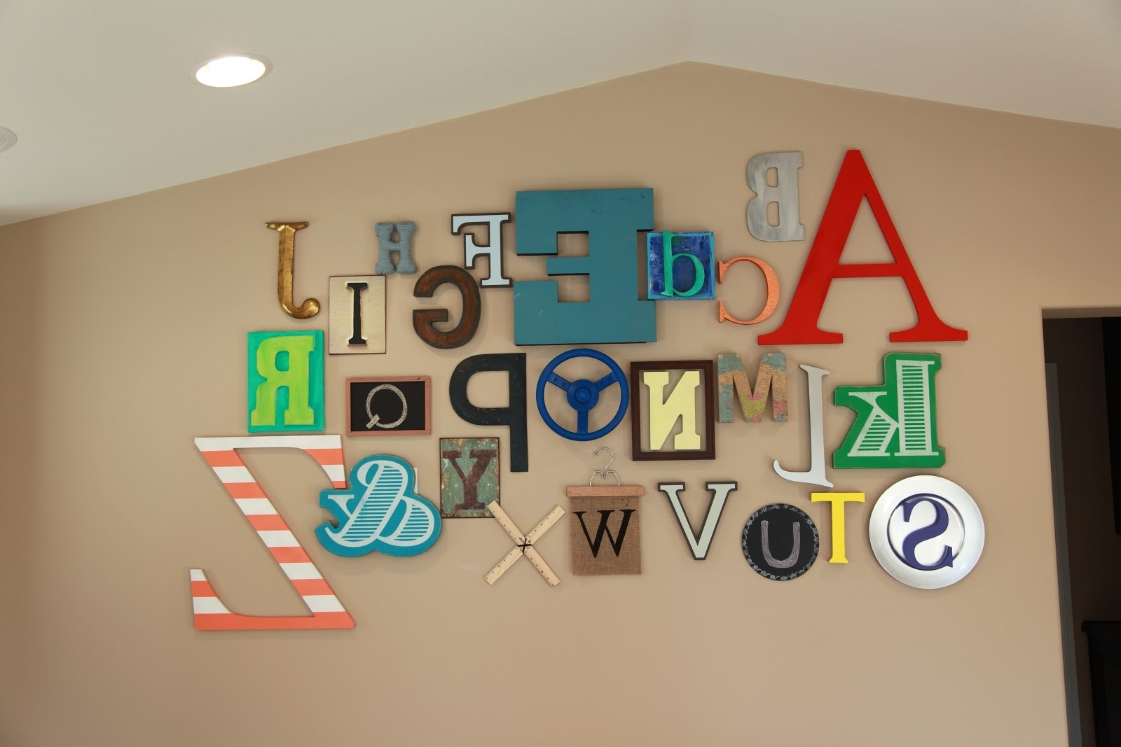 Abc Alphabet Wall • Color Made Happy Regarding Newest Alphabet Wall Art (View 1 of 20)