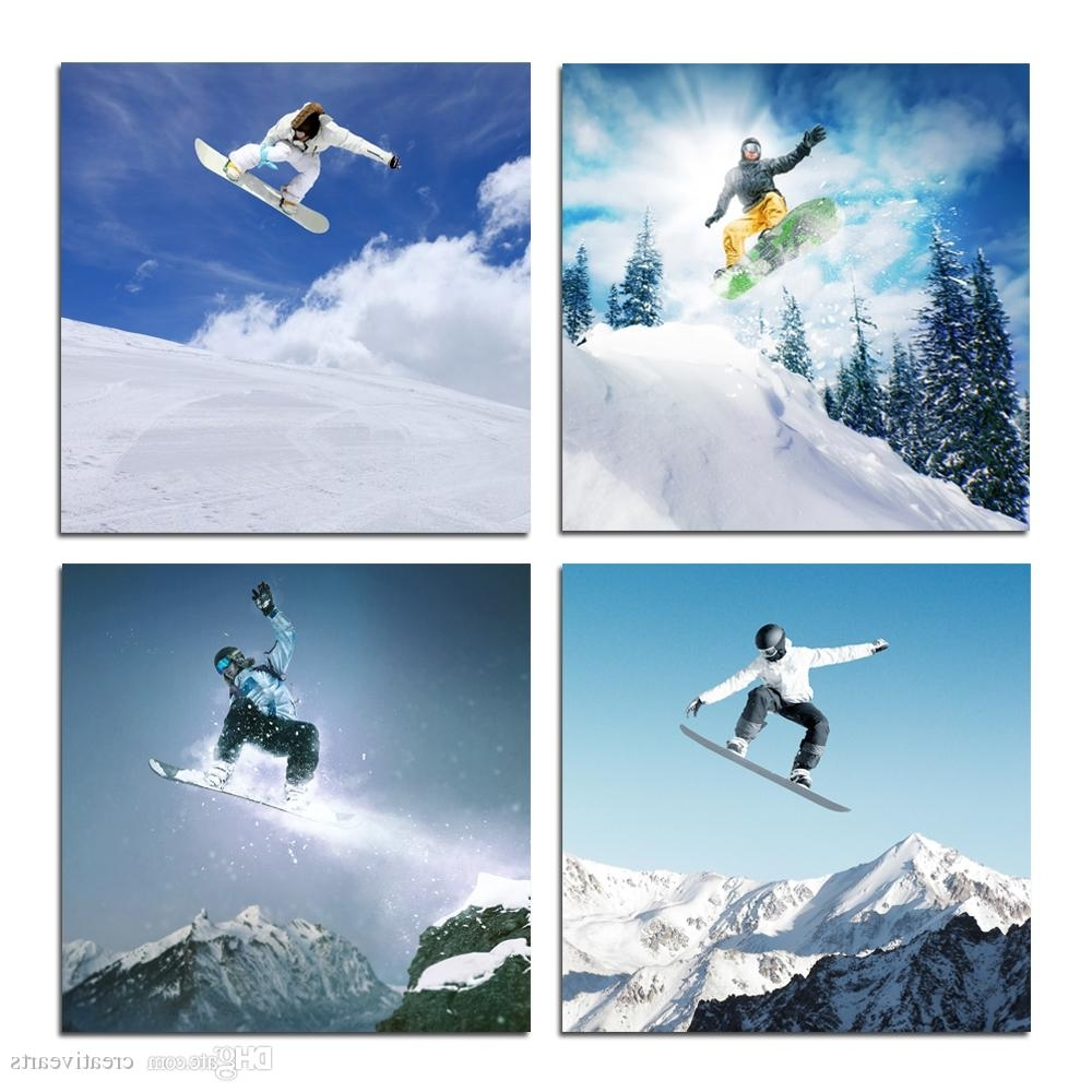 Acheter Toile Wall Art Snowboard Sports D'hiver Pour La Maison Décor Inside Recent Sports Wall Art (Gallery 17 of 20)