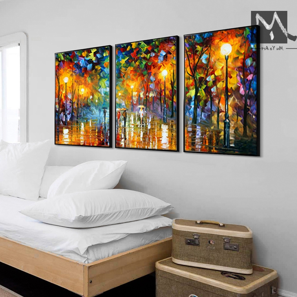 Acrylic Wall Art Within Latest 3 Piece Canvas Art Abstract Paintings Acrylic Wall Decor Cheap (View 8 of 20)