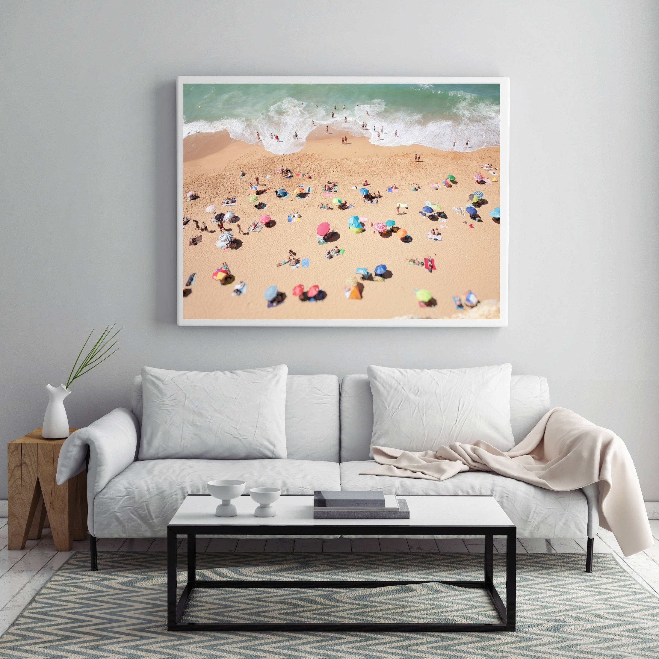 Aerial Beach Photo, People On The Beach, Modern Wall Art, Beach Regarding 2017 Large Coastal Wall Art (View 5 of 20)
