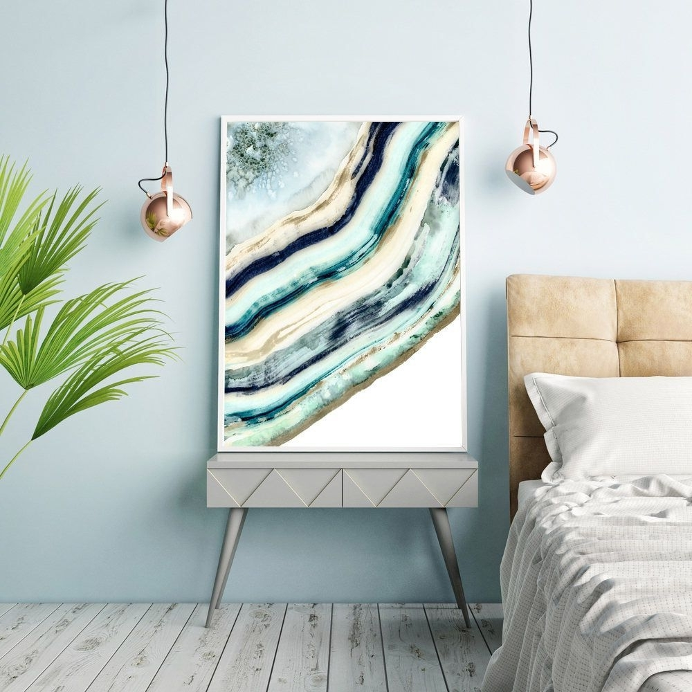 Agate Wall Art In Current Agate Print, Watercolor Agate, Painting, Agate Wall Art, Geode Wall (View 4 of 20)
