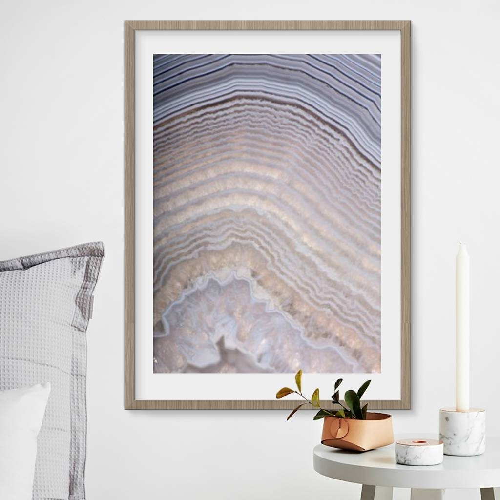 Agate Wall Art Within Famous Pink Agate Photography Art Printmagpie Living (View 7 of 20)