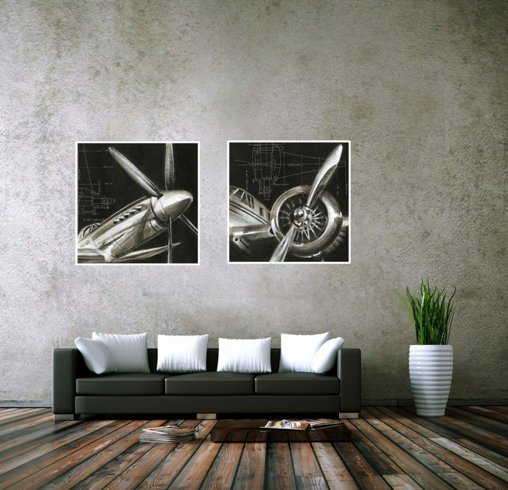 Airplane Wall Art In Current Cuadros Decoracion Vintage Airplane Paintings Cheap Abstract Picture (View 3 of 20)
