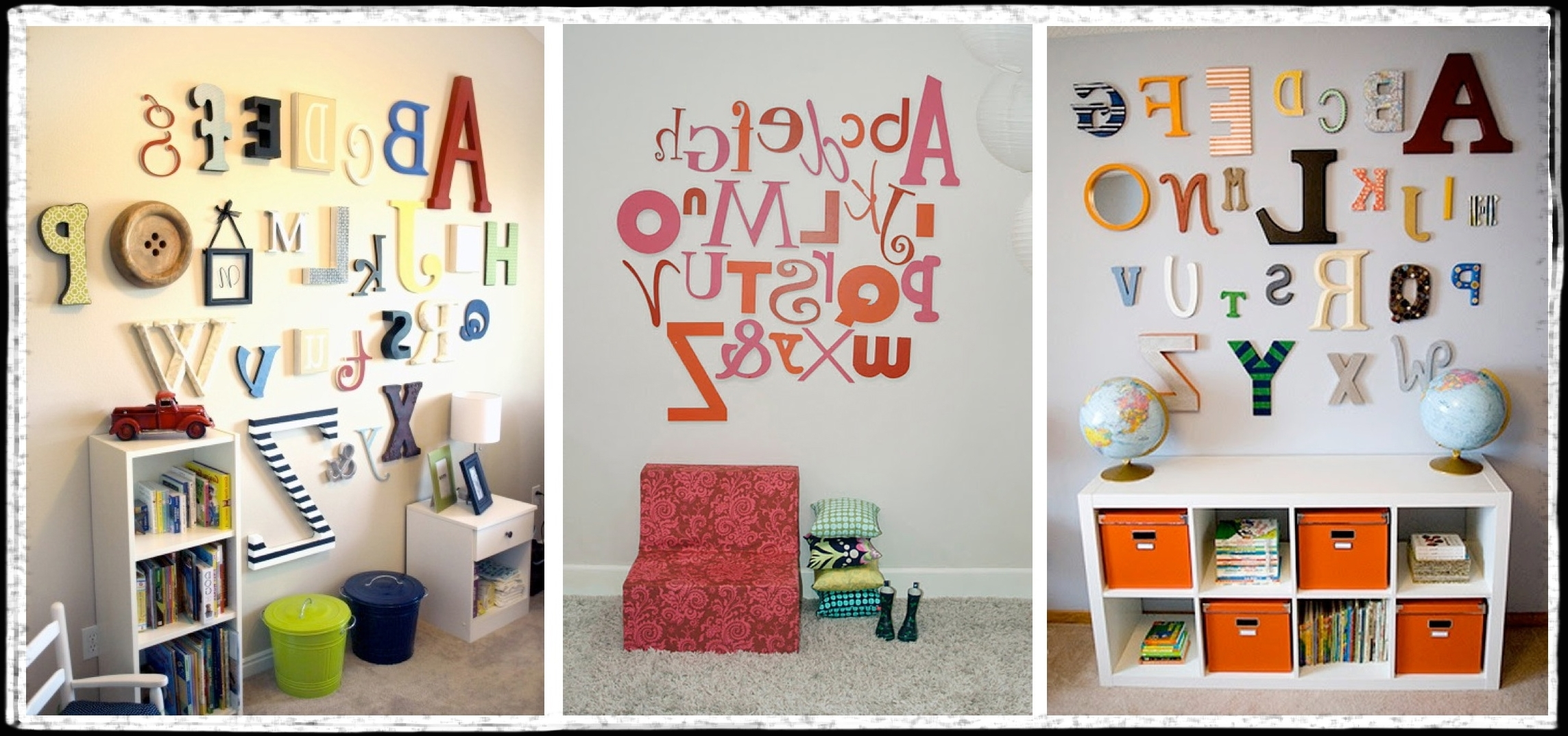 Alphabet Wall Art With Regard To Most Recent Alphabet Wall Art – Unavocecr (View 5 of 20)