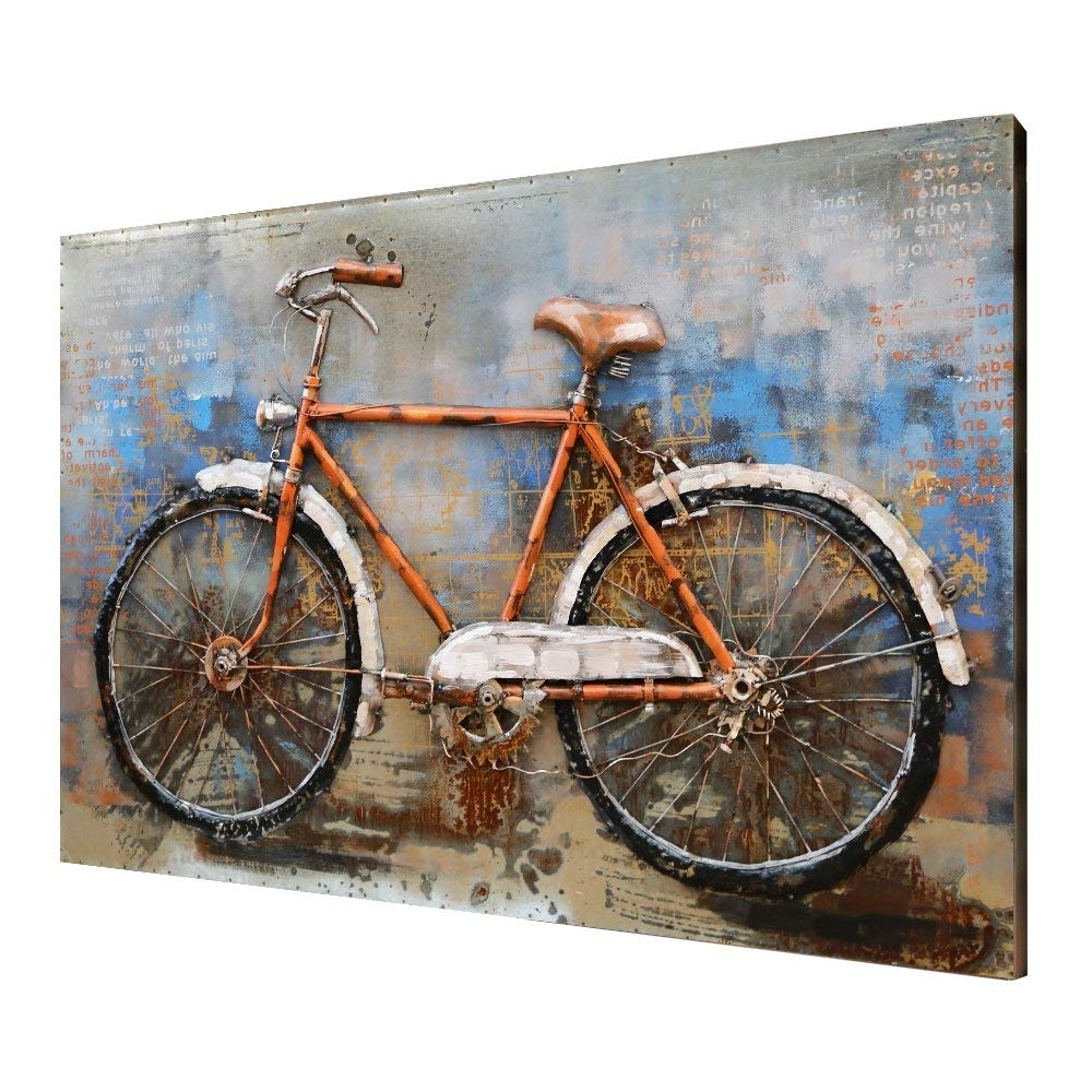 [%Amazon: Asmork 3D Metal Art – 100% Handmade Metal Unique Wall Intended For Famous Bicycle Wall Art|Bicycle Wall Art With Latest Amazon: Asmork 3D Metal Art – 100% Handmade Metal Unique Wall|Latest Bicycle Wall Art Throughout Amazon: Asmork 3D Metal Art – 100% Handmade Metal Unique Wall|Most Recent Amazon: Asmork 3D Metal Art – 100% Handmade Metal Unique Wall With Regard To Bicycle Wall Art%] (View 1 of 20)