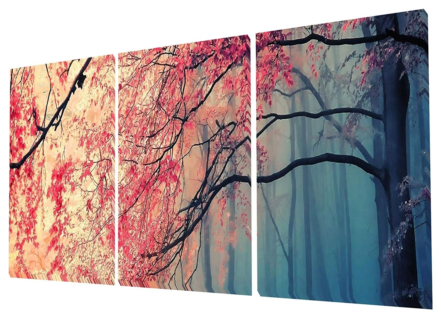 Amazon: Gardenia Art – Red Maples Canvas Prints Wall Art For Newest Modern Painting Canvas Wall Art (View 4 of 20)