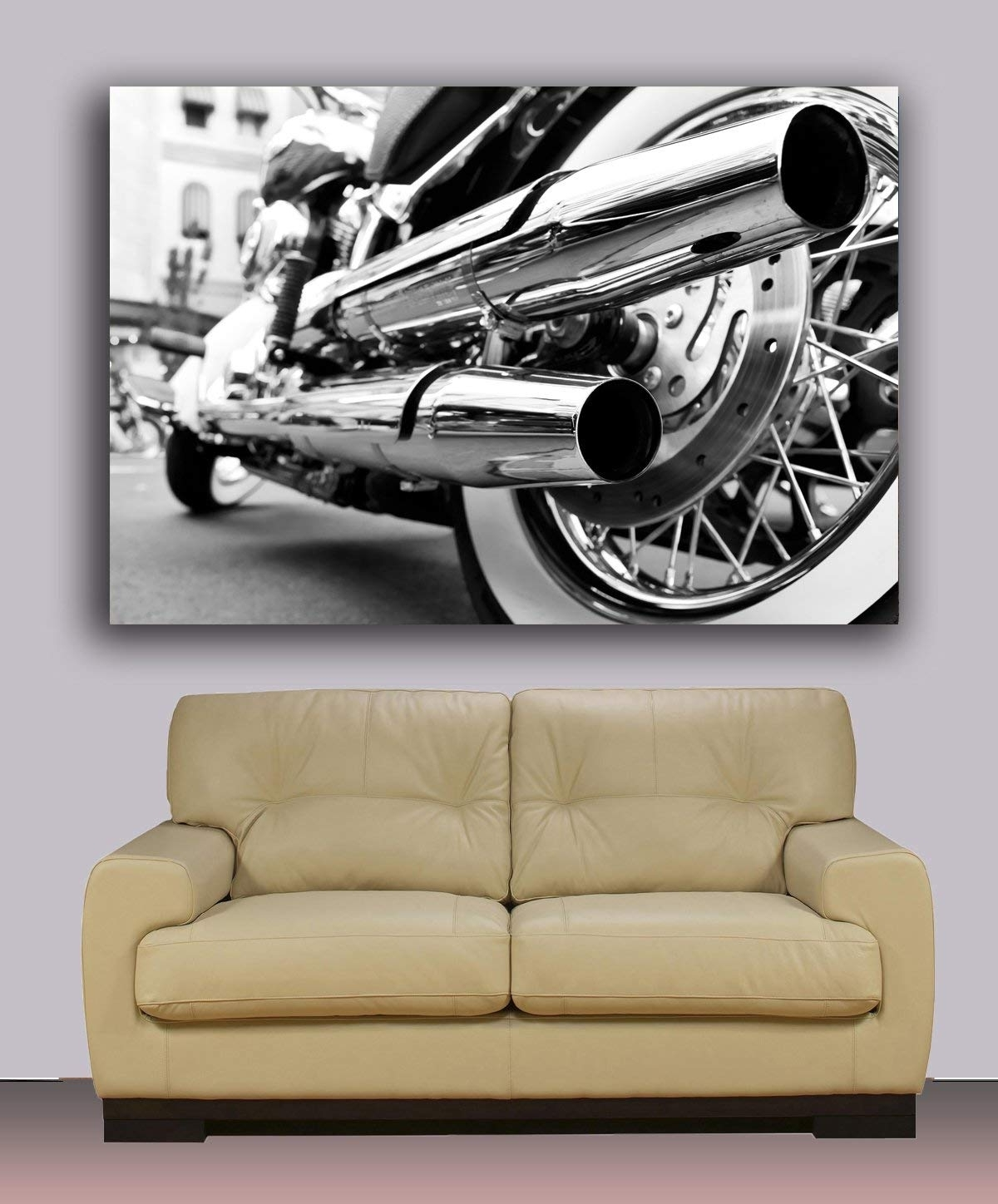 Amazon: Harley Davidson Canvas Print, Ready To Hang Wall Art Regarding 2018 Harley Davidson Wall Art (View 3 of 20)