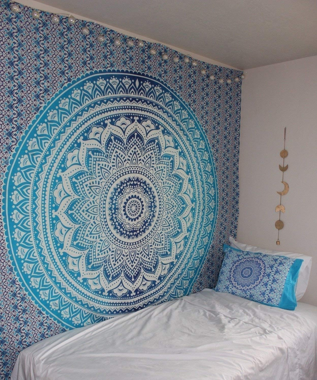Amazon: Hippie Mandala Tapestry, Hippie Tapestries, Mandala Wall In Most Recent Mandala Wall Art (View 17 of 20)
