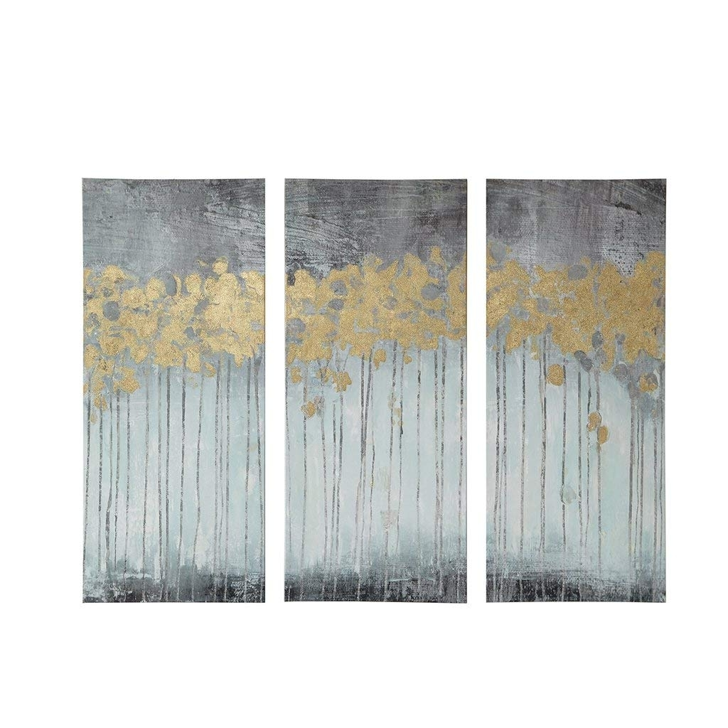 Amazon: Madison Park Evening Forest Grey Canvas Wall Art 15X35 3 In Preferred Grey Wall Art (View 3 of 20)