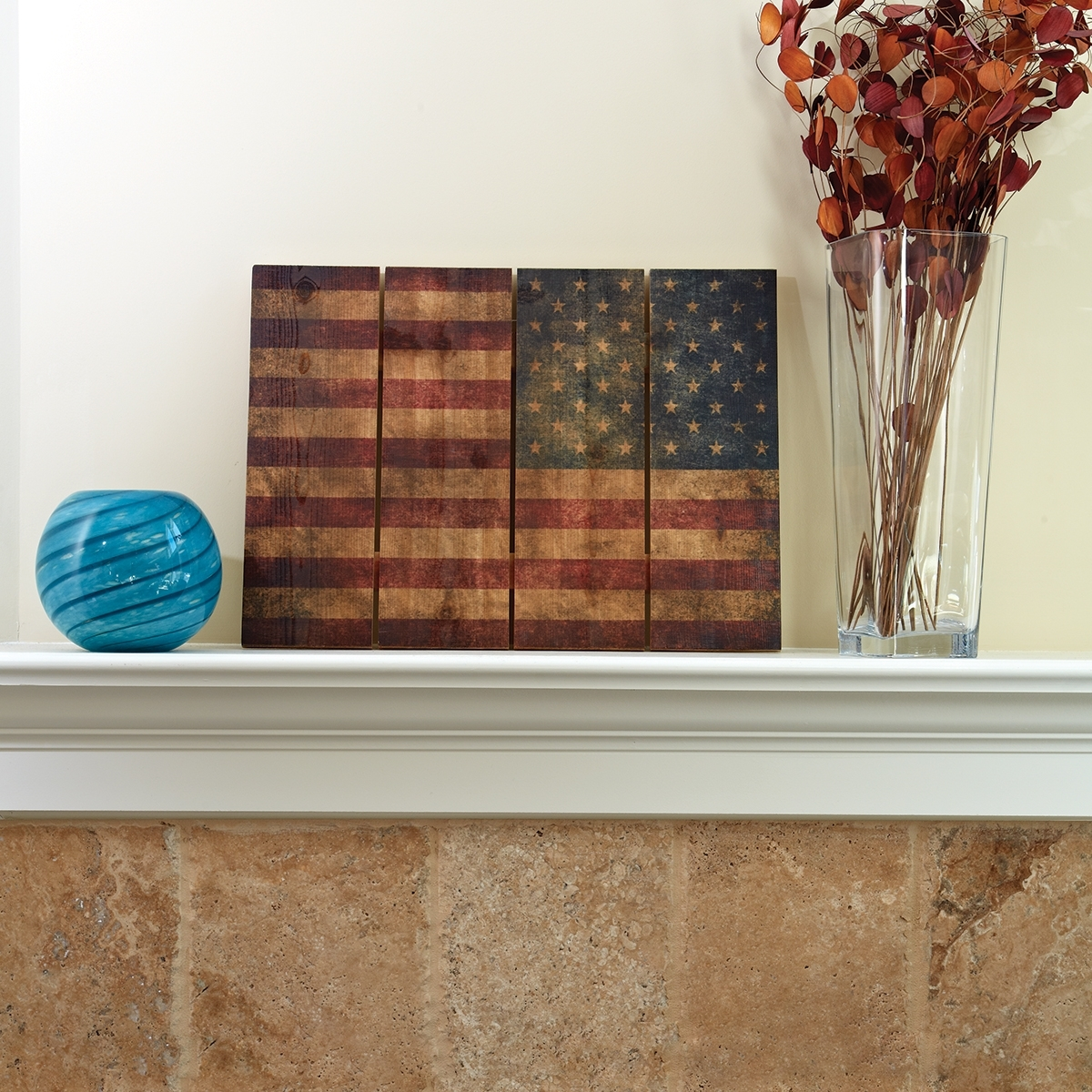 "American Flag Wall Art Regarding 2018 Wooden American Flag Wall Art (22"" X 16"") – From Sportys Preferred (View 3 of 15)"