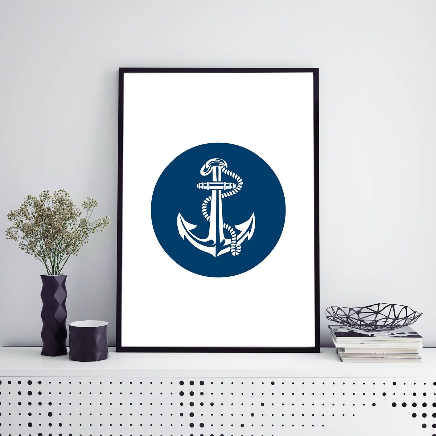Anchor Print Printable Nautical Wall Art Digital Download Beach Intended For Well Liked Anchor Wall Art (View 18 of 20)