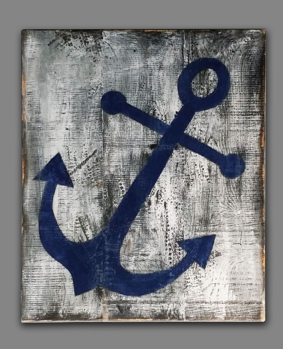 Anchor Wall Art Throughout Most Popular Anchor Wall Art For A Beach House Or Nautical Themed Decor (View 7 of 20)