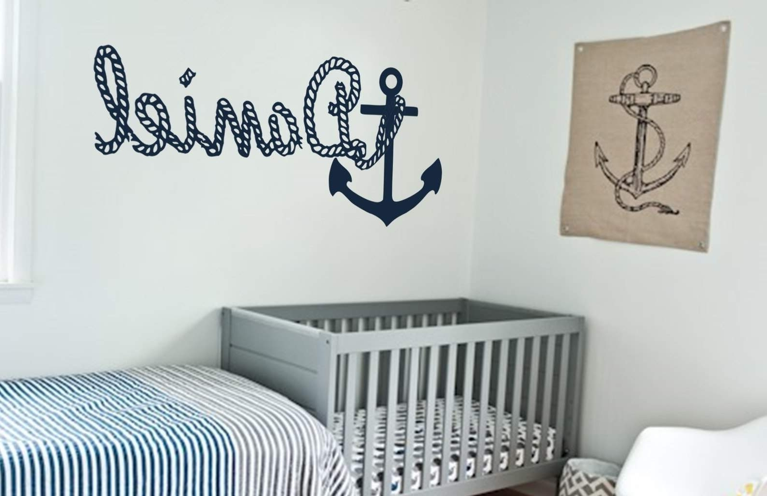 Anchor Wall Art With Most Up To Date Get Personalized Wall Decal With Anchor Picture (View 8 of 20)