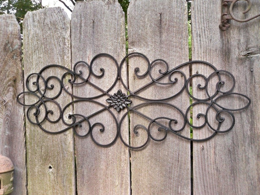 Appealing Large Outdoor Wrought Iron Wall Decor As Well As Outdoor With Regard To Most Up To Date Outdoor Metal Wall Art (View 2 of 15)